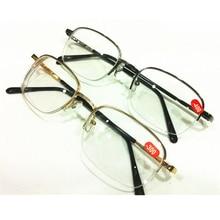 Золотой Серый унисекс из металла с плоскими стеклами и половинной рамкой близорукость очки диоптрий-1,00-1,50-2,00-2,50-3,00-3,50-4,00 A1
