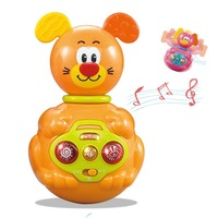 Baby Mobiles Bell Nodding Tumbler Musical Rattles Flashing Roly poly Teether Toy Fun for Newborn Gift Learning Education