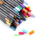Набор художественных маркеров 12/24/36/48/80 цветов  ручка-маркер на водной основе  двойная головка  мягкая кисть  художественная ручка для рисова...