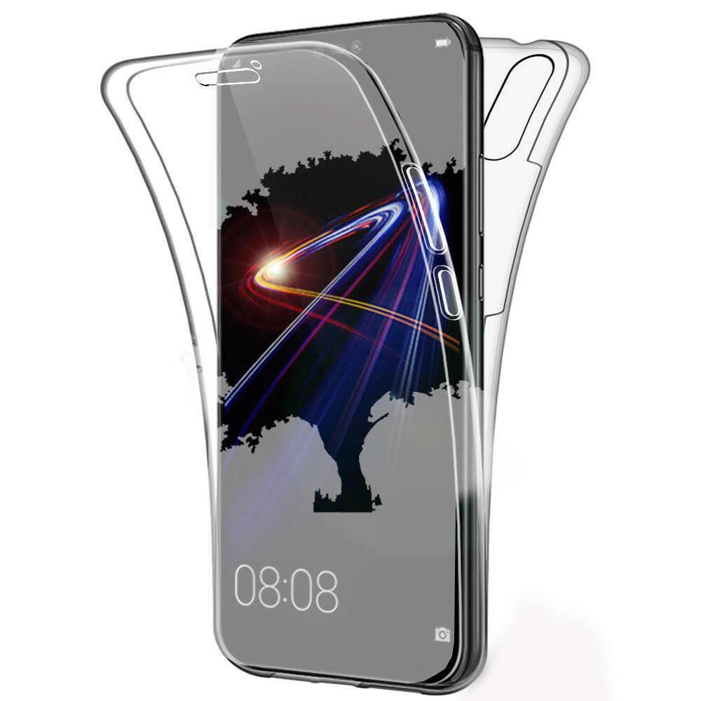 高級 360 フルカバーシリコーン PC 電話ケース Huawei 社 P20 Lite 透明ケース Huawei 社メイト 20 Lite P30 プロ 1080p スマートケース