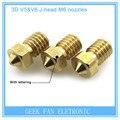 3D V6 & V5 J-bicos 3D Printer extrusora bocal Da Cabeça de bronze 0.2/0.25/0.3/0.4/0.5/0.6/0.8/1.0mm Para 1.75mm suprimentos