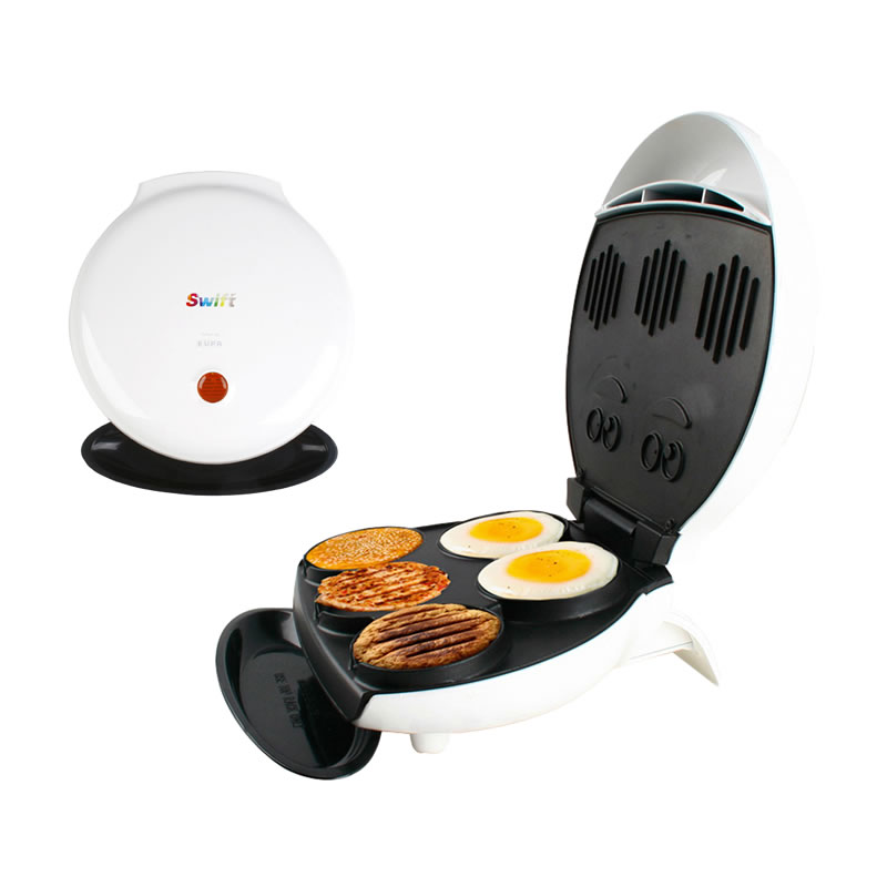 220V Fried Eggs Machine Household Electric Breakfast Hamburger Machine Steak Machine Crepe Maker Frying Pan Kitchen Tool stainless steel household portable electric toaster breakfast machine automatic bread baking maker fried eggs boiler frying pan