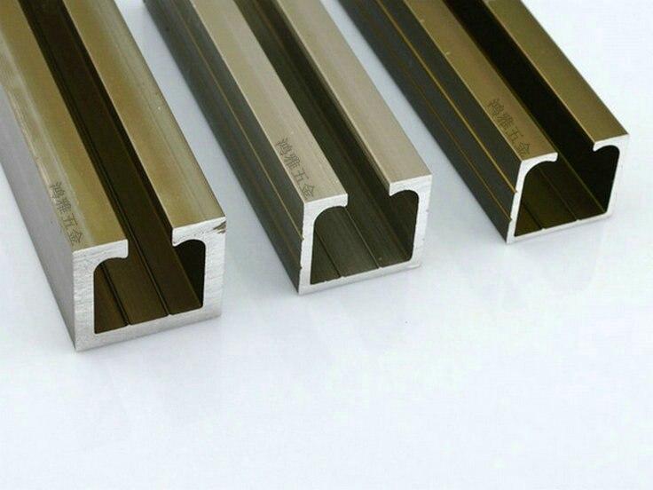 Exceptionnel Thick Sliding Door Rail / Glass Door Hanging Rail / Track / Sliding Door  Groove / Aluminum Hanging / Sliding Door Wheel Rail 10C In Cabinet Hinges  From Home ...