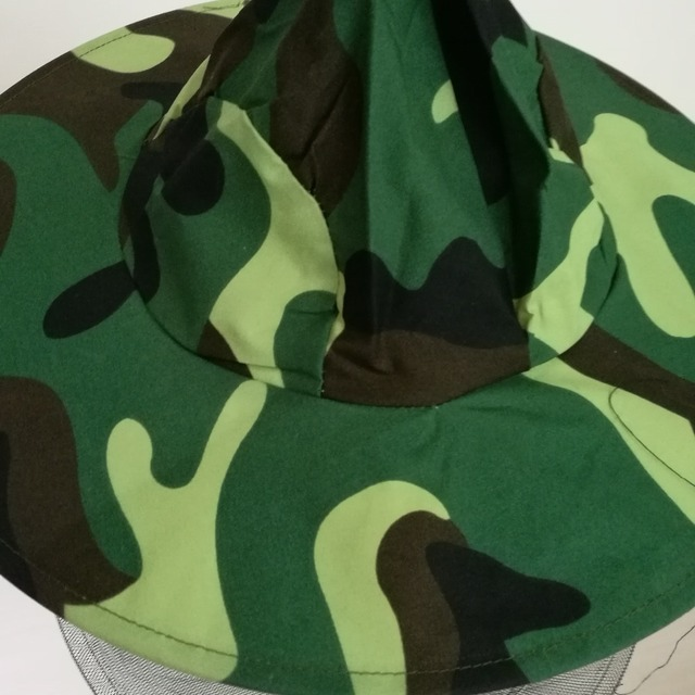 Camouflage Beekeeping Hat Insects Mosquito Net Prevention Caps Mesh Cap Mask Outdoor Sunshade Neck Head Cover