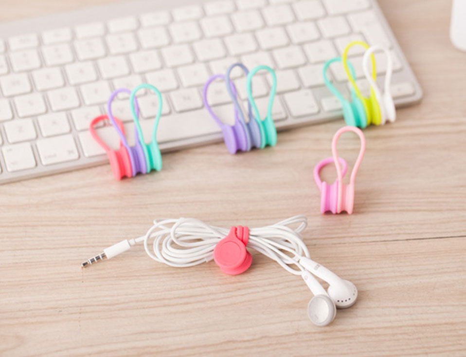3PcsPack Earphone Cord Winder Cable Holder Organizer Clips Multi Function Durable Magnet Headphones Winder Cables Drop Shipping (6)