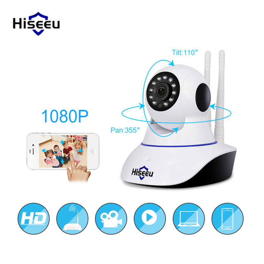 Hiseeu 1080P IP Camera Wireless Home Security IP Camera Night Vision CCTV Camera Surveillance Camera Wifi Baby Monitor Wholesale