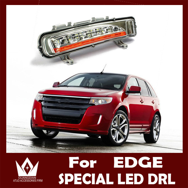 ФОТО Guang Dian Free shipping For edge LED Car Led Day light daytime running light wire of harness 12v DC 15w guide light style DRL