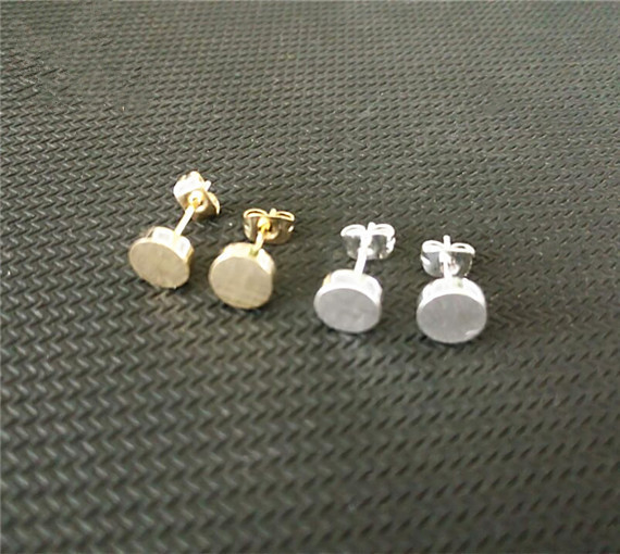 Simple Tiny Round Disc Earrings Woman Daily Wear Jewelry Fashion Gold Silver Plated Stainless Steel Christmas Gifts Jewellery In Stud From