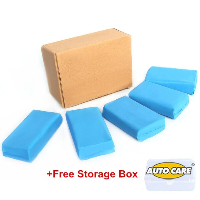 5pcs 180g Magic Blue Clay Bar for Auto Detailing Cleaner & Car Washer