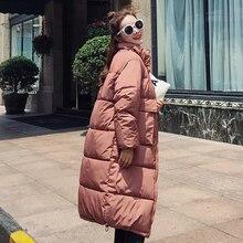 Модная женская коллекция, Новое поступление, однотонная, тонкая, длинная, размер, для женщин, хлопок, тонкий пуховик с капюшоном, зимняя куртка 8810