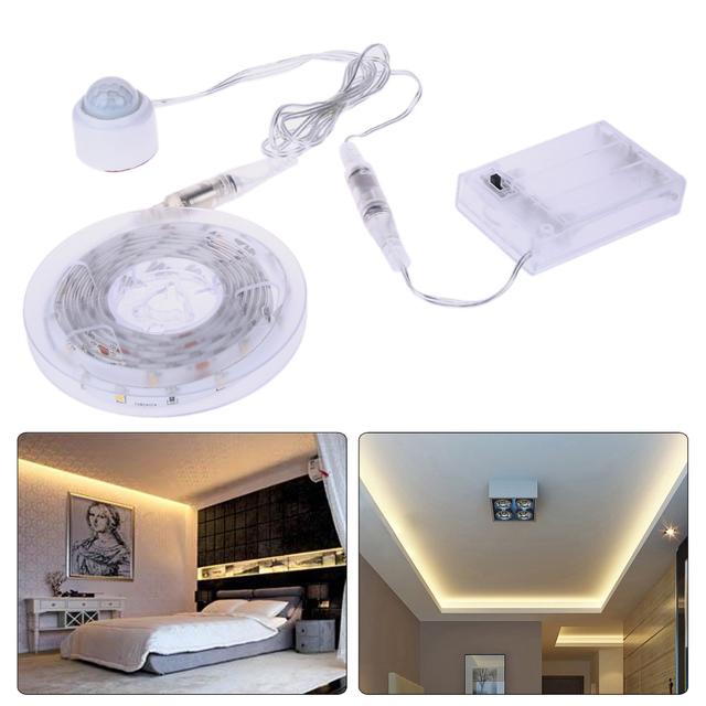 1.5 m USB CONDUZIU a Luz de Tira Flexível Sensor de Desligamento Automático Chão lâmpadas de Bateria USB Conjunto Lâmpada IP65 SMD3528 Led Decoração da lâmpada