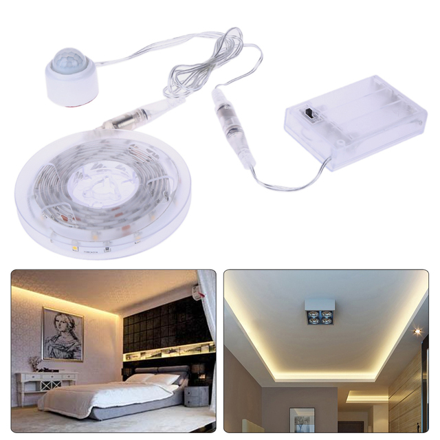1.5m USB LED Strip Light Flexible Sensor Automatic Shut Off Floor Lamps SMD3528 Battery Pack USB Lamp Set IP65 Led Decor lamp