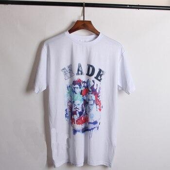 Wxcteam BigBang Tshirt GD MADE concierto Unisex algodón blanco personaje Top Tee Harajuku Camiseta de manga corta