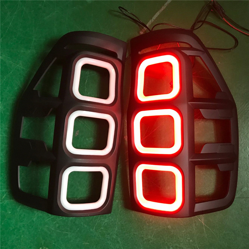 REAR LED TAIL LAMP DAY LIGHTS COVER REAR LED LIGHTS COVERS FIT FOR FORD RANGER T6 T7 2012-2018 AUTO ACCESSORIES