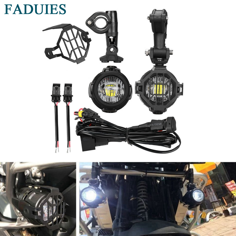FADUIES Motorcycle LED Auxiliary Fog Light Driving Lamp With Lamps Include Wire With Relay  For BMW R1200G R1200GS ADV F800GS