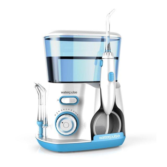 Waterpulse V300G 100-240 V Oral irrigador Jet Pick dientes hilo Dental Flosser Hydro conjunto 800 ml capacidad para blanquear los dientes