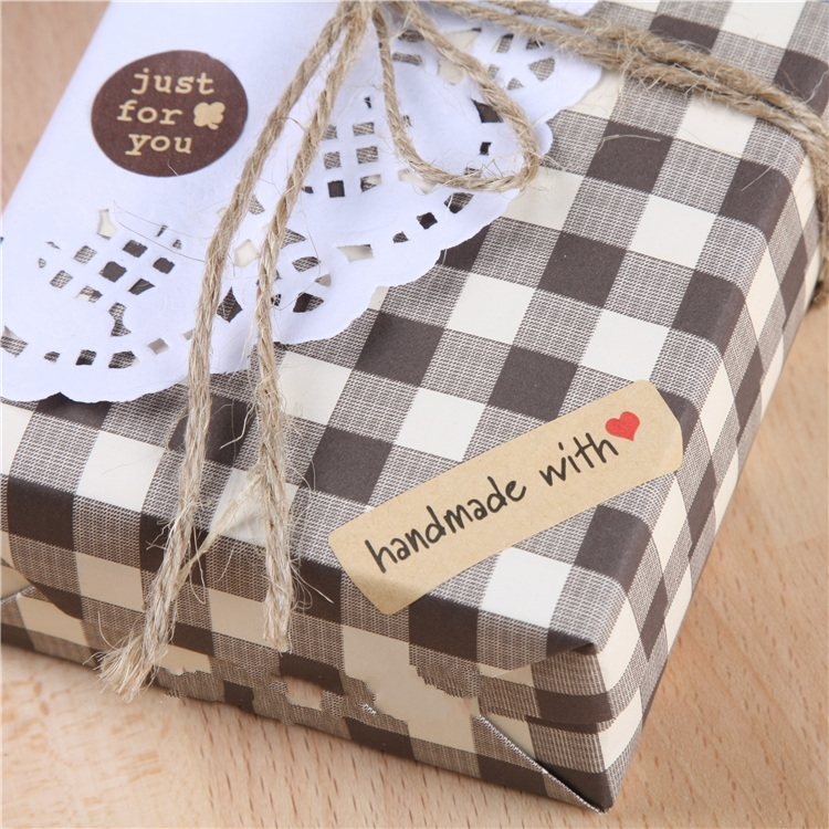 Office & School Supplies 2018 New Arrival 100pcs/lot Hand Made With Heart Packaging Sealing Label Kraft Sticker Baking Diy Gift Stickers 45*13mm M1014