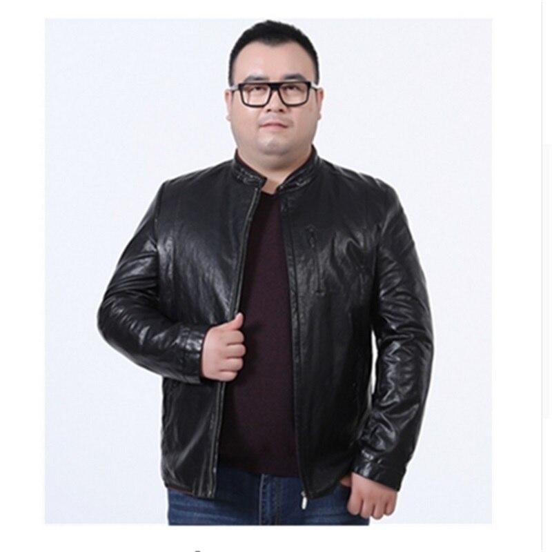 Plus size high quality 8XL 6XL 5XL Brand Men Leather Jacket For Men Real Matte Goat Skin Jacket Black Male Leather Coat Autumn
