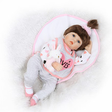 22 zoll reborn baby Puppen lol spielzeug Silikon Rebron Babys Mädchen echt wie super qualität Neugeborenen Bonecas brinquedos Kinder Geschenk