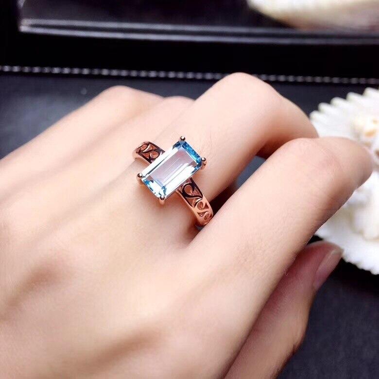 Topazio anello di Barretta anello Naturale reale blu topaz 925 sterling silver ring Commerci Allingrosso Per gli uomini o le donneTopazio anello di Barretta anello Naturale reale blu topaz 925 sterling silver ring Commerci Allingrosso Per gli uomini o le donne