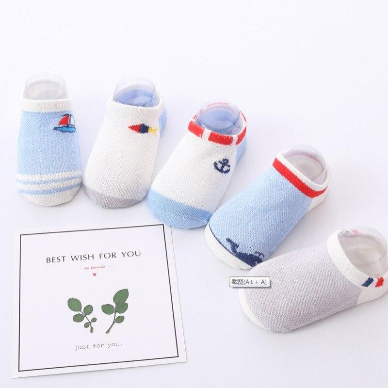 Gastfreundlich 10 Stück = 5 Paare/los Candy Farben Silikon Boden Socken Unsichtbare Boot Socken Baby Socken Sehr Dünne Atmungsaktive Baumwolle Socken Einen Einzigartigen Nationalen Stil Haben
