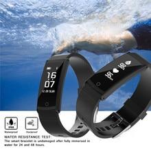 Smart Браслет силиконовый ремешок Профессиональный Водонепроницаемый IP68 сердечного ритма Мониторы Приборы для измерения артериального давления шагомер для Samsung iPhone часы