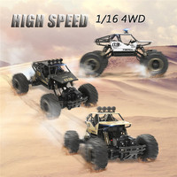 1/16 4WD High Speed Radio Remote Control RC RTR Racing Car Truck Off Road Buggy Crawler Kids Gift Toy Climbing Vehicle Boy Kit
