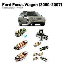 Led interior lights For Ford focus wagon 2000-2007  17pc Led Lights For Cars lighting kit automotive bulbs Canbus цена