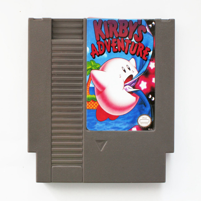 kirby s adventure 72 pins game card for 8 bit game player in memory