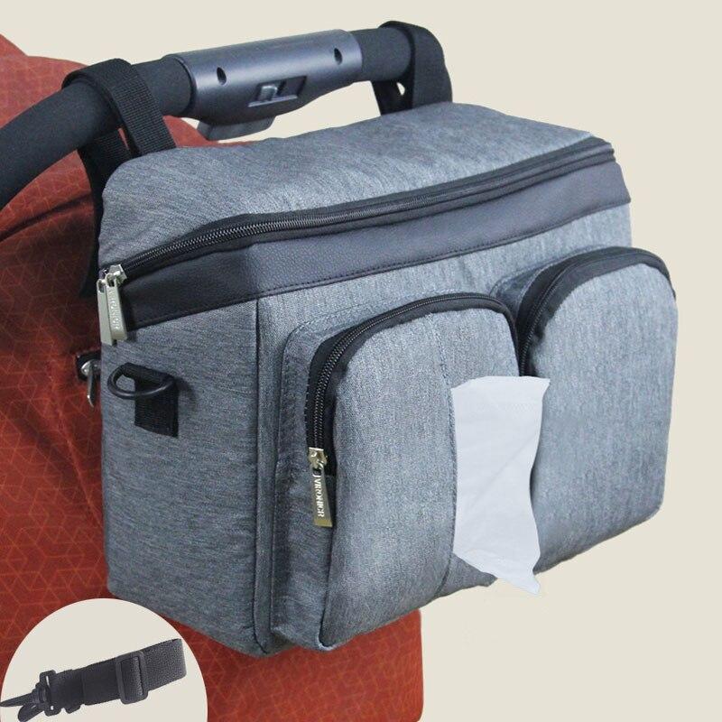 Carrinho de criança saco de fraldas à prova dwaterproof água saco de fraldas organizador para cuidados com o bebê mama viagem pendurado carrinho de maternidade saco do bebê bolso