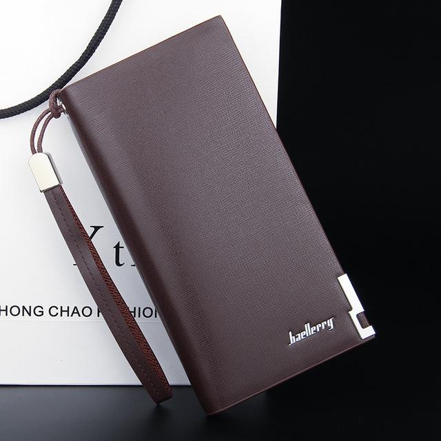 Men's Classic Leather Long Wallet
