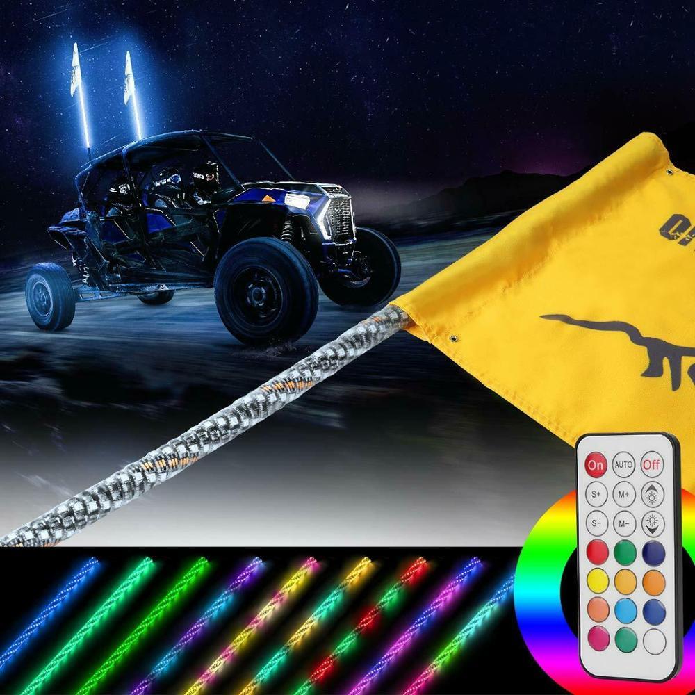 Kemimoto 4x4 Utv Atv 5 Quot Led Light Whip Kit For Polaris Rzr