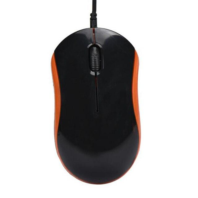 Mosunx Mouse Ottico con cavo 1600DPI 3D USB Nero Mouse Da Gioco Ricaricabile Ufficio di Alta Qualità Mouse per il PC Del Computer Portatile Notebook l0305
