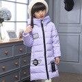 2016 do Inverno Da Menina Para Baixo casaco casacos longos modelo quente grossa das Crianças 100% de pato para baixo Outerwear & Casacos baby girl para baixo casaco