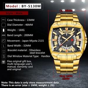 Image 2 - BENYAR Men Watch Business Golden Stainless Steel  Men Quartz Sports Watches Fashion Top Brand Creative Waterproof Wristwatches