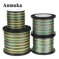 Anmuka Brand 1000M Braided PE Fishing Line 1 M 1 Color 8 Wevas 20lb 80lb Mulifilament