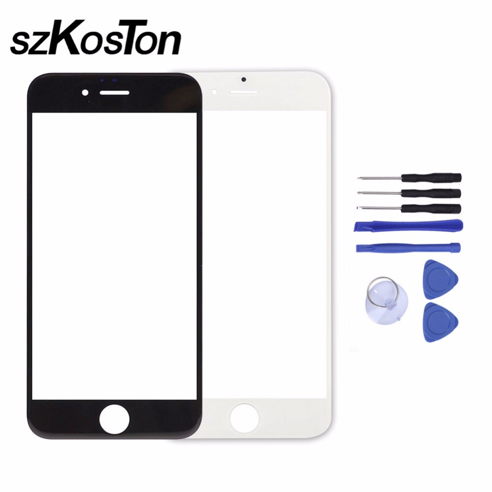 100% Quality Front LCD Touch Screen Outer Glass Lens Replacement for iPhone 5 5s 6 6s Front Glass Repair Replacement With Tools image