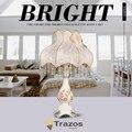 Frete grátis criativo abajur fashion rústico sala e quarto luzes de cabeceira do quarto das crianças lâmpada de mesa decoração do casamento