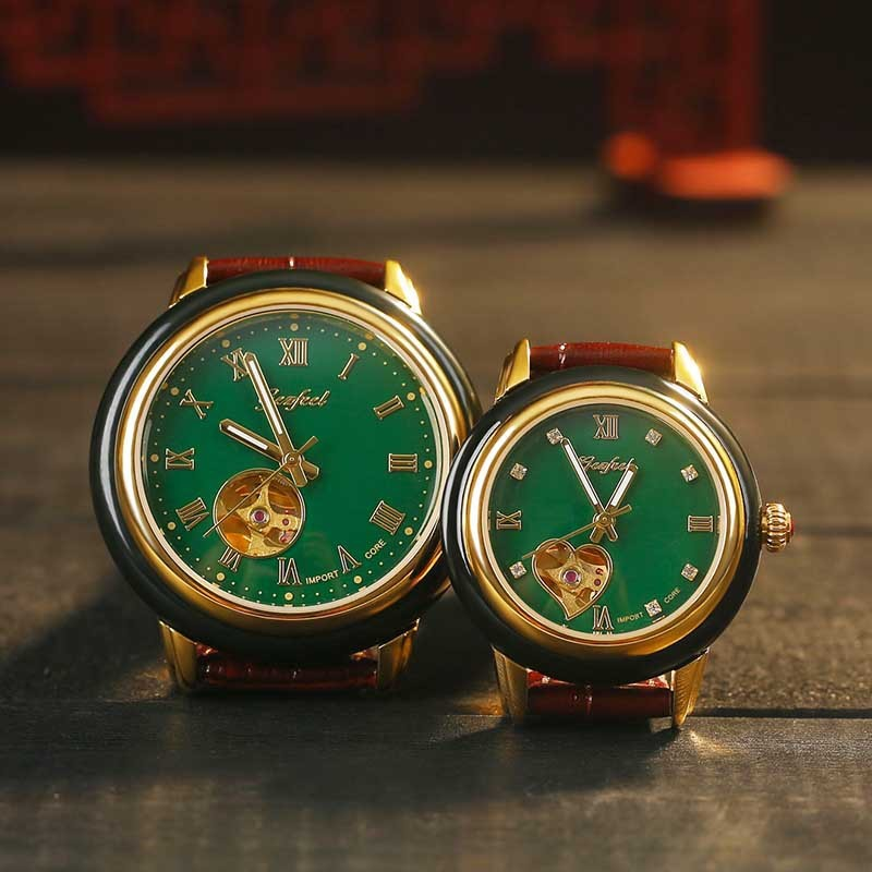 2019 Real Mechanical Watches, Fashion Business Man Hollow Out Hetian Jade Table Logo Can Be Customized Processing