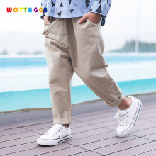WOTTAGGA 2019 Spring Autumn Kids Pants Baby Boys Casual Pant Kids Clothing Cotton Boys Long Trousers недорого