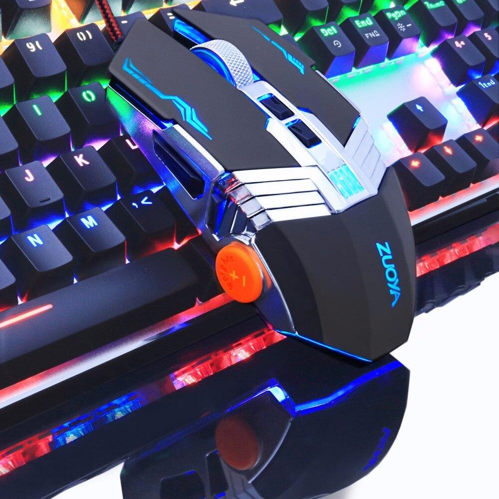 ZUOYA Gaming mouse For Professional Gamer 8D Adjustable 3200DPI LED Optical Mice USB Wired sunsonny t m30 usb wired 6 button 600 1000 1600dpi adjustable led gaming mouse golden red