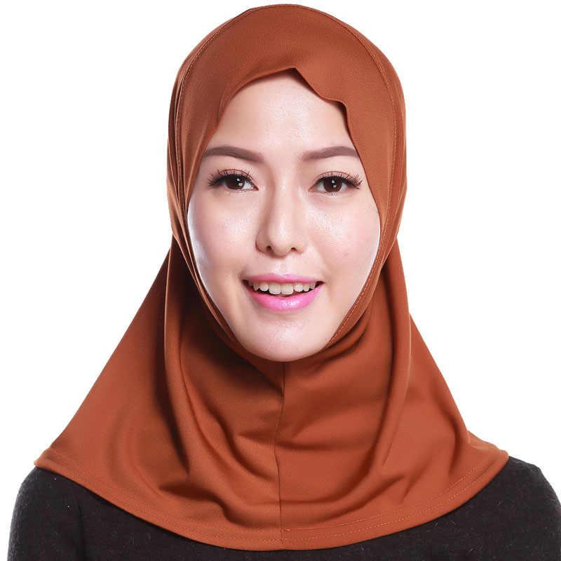 2019 UAE AbayaดูไบซาอุดีอาระเบียอิสลามHijabหมวกหมวกผู้หญิงมุสลิมHijabsผ้าคลุมไหล่Turbante Sombrero Mujer Bonnet Headscarf