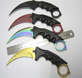 cs go counter hunt night strike hawkbill tactical claw karambit neck knife real combat fight camp hike outdoor defense