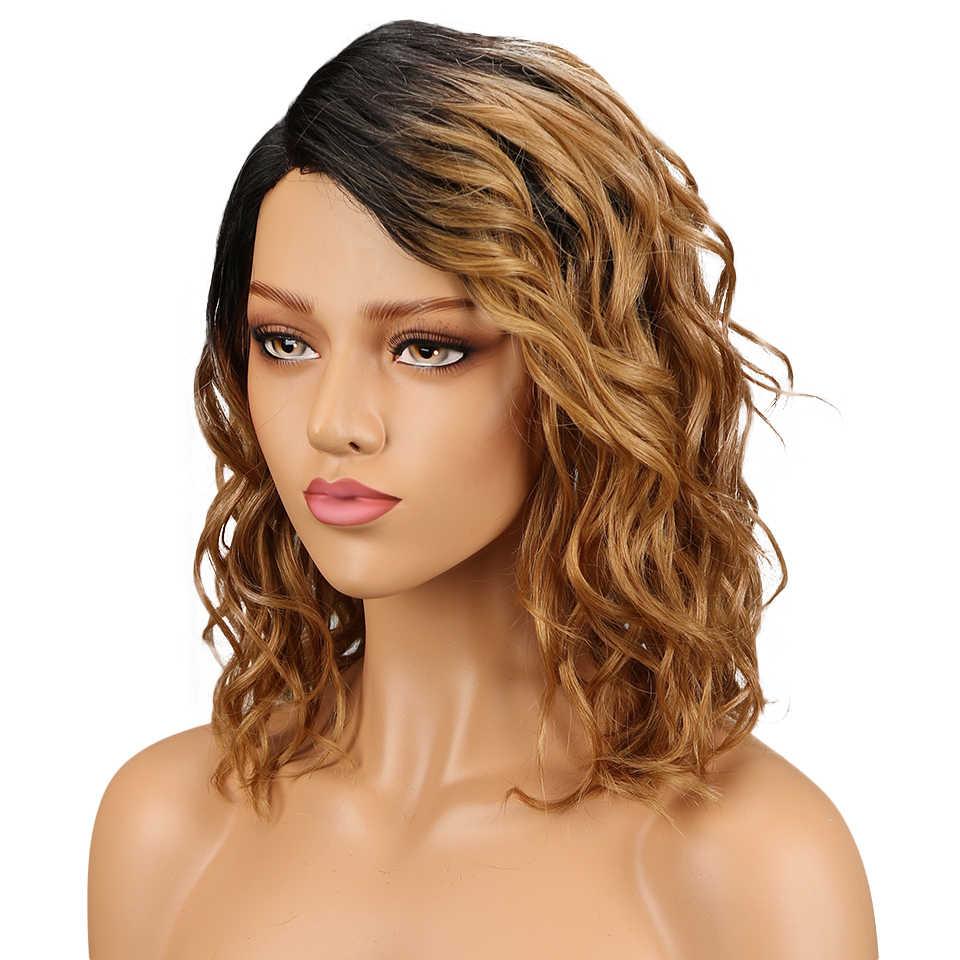Гладкий бразильская холодная завивка парик TT1b/27 цветные человеческие волосы парики для черных женщин влажные и волнистые здоровые волосы Perruque chevex humain