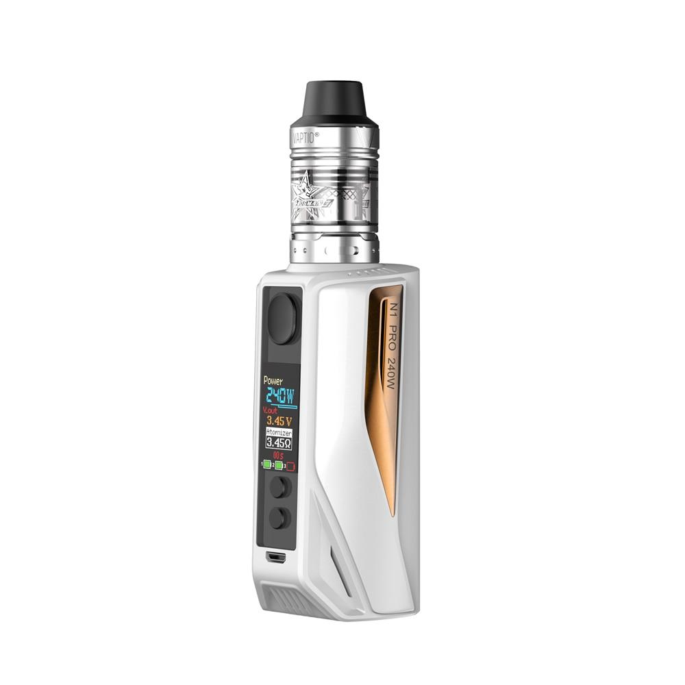 Cigarette électronique Vaptio 200 W N1 pro Lite Starter kit 2.0 ml kit de cigarettes avec VAPORISATEUR Frogman Réservoir OCC bobine VV 2*18650 kit mod