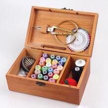 С замком, портативная швейная коробка для шитья, инструменты для игл, для шитья ниток, для шитья, рукоделия, наборы для шитья, Домашний Органайзер