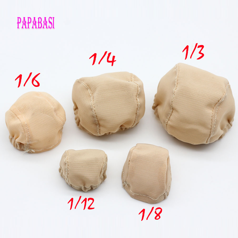 Handmade BJD Doll Wigs Headgear Wigs Cap Doll Accessories DIY Fixed-Wig Hairnet Hair Net For For 1/3 1/4 1/6 SD BJD Toy Wig Hat white brown women 60cm length long wigs japanese style game cosplay wig hair cap hairnet
