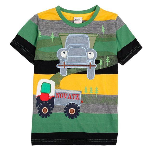 Бобо выбирает футболки для детей мальчики дети одежда лето стиль вышивки автомобили случайные футболки для детей одежда