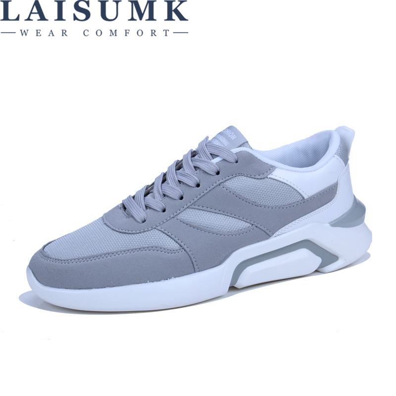 2018 LAISUMK Mens Fashion Casual Shoes Trend Male Fly weave Breathable Canvas Sneakers Mens Shoes New Triple Clunky sneakers