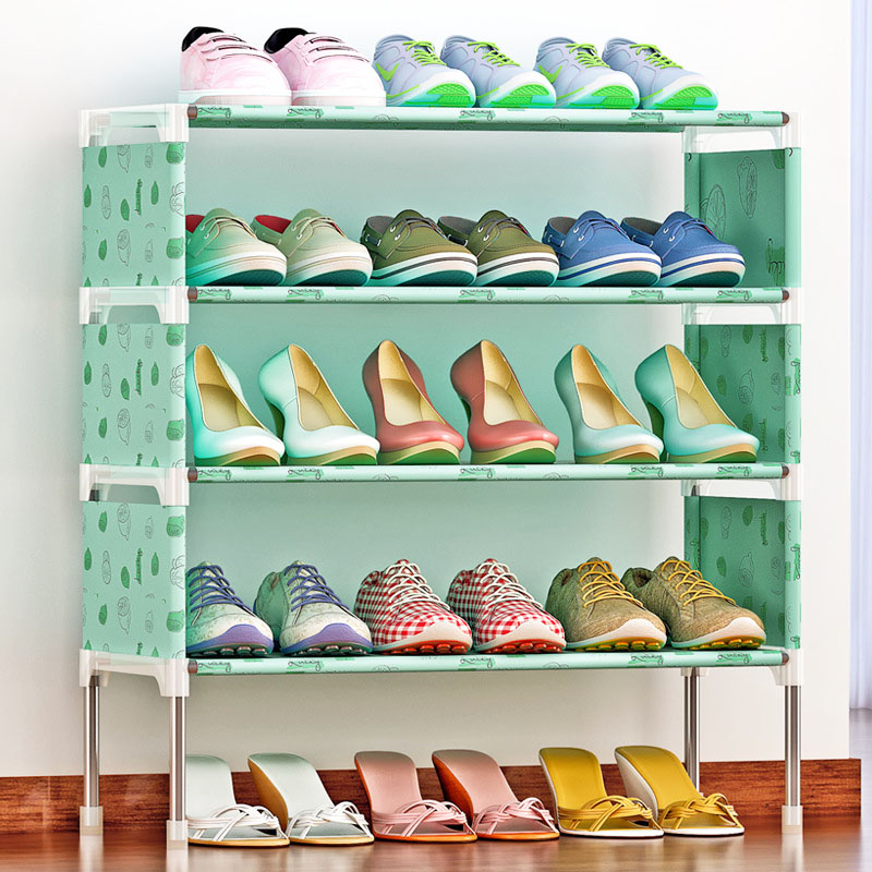 New arrival Nonwovens Multiple layers Shoe Rack Easy Assembled Shelf Storage Organizer Stand Holder Keep Room Neat shoe rack nonwovens steel pipe 4 layers shoe cabinet easy assembled shelf storage organizer stand holder living room furniture